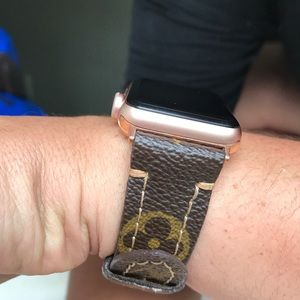 Louis Vuitton Repurposed Apple Watch Band